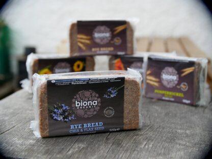 Biona Rye Bread Chia & Flax (500g)