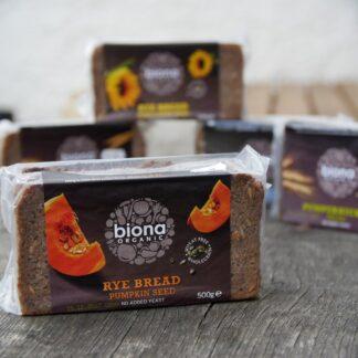 Biona Rye Bread Pumpkin Seed (500g)
