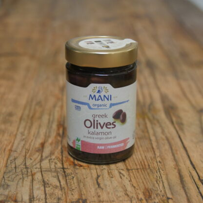 Mani Greek Kalamon Olives 205g