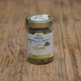 Mani Greek Green Olives 205g