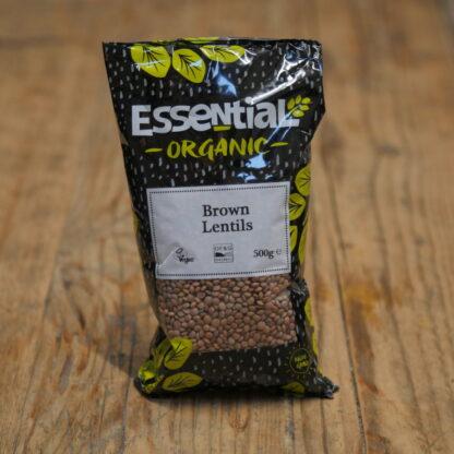 Essential Organic Brown Lentils 500g