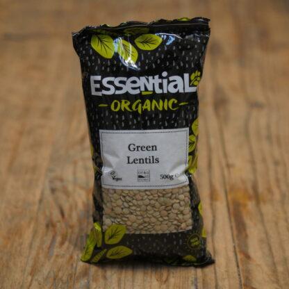 Essential Organic Green Lentils 500g