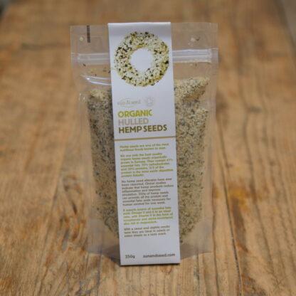 Sun & Seed Organic Hulled Hemp Seeds (250g)