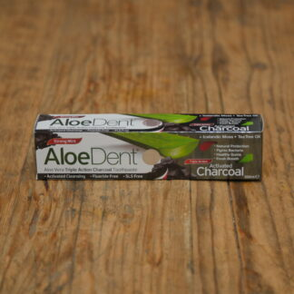 Aloe Dent Fluoride Free Charcoal Toothpaste