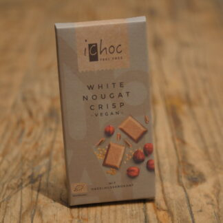 iChoc Vegan White Nougat Crisp Chocolate